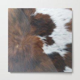 Faux fur, rustic cow hide detail Metal Print