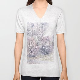 Snow in early fall(2). Unisex V-Neck
