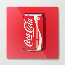 Coca cola - Classic can Metal Print