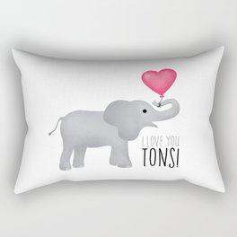 I Love You Tons! Rectangular Pillow