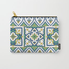 Italian Tile Pattern – Sicilian ceramic from Caltagirone Carry-All Pouch