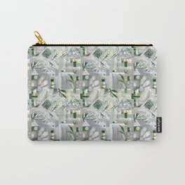 green_pattern Carry-All Pouch