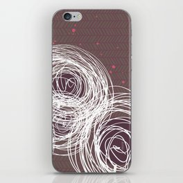 Doodle Flowers in Purple by Friztin iPhone Skin