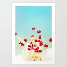 Blooming Candy Red Art Print