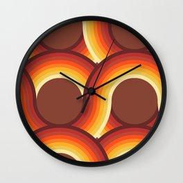 Rollin' Retro Road in Orange Ombre + Tan  Wall Clock