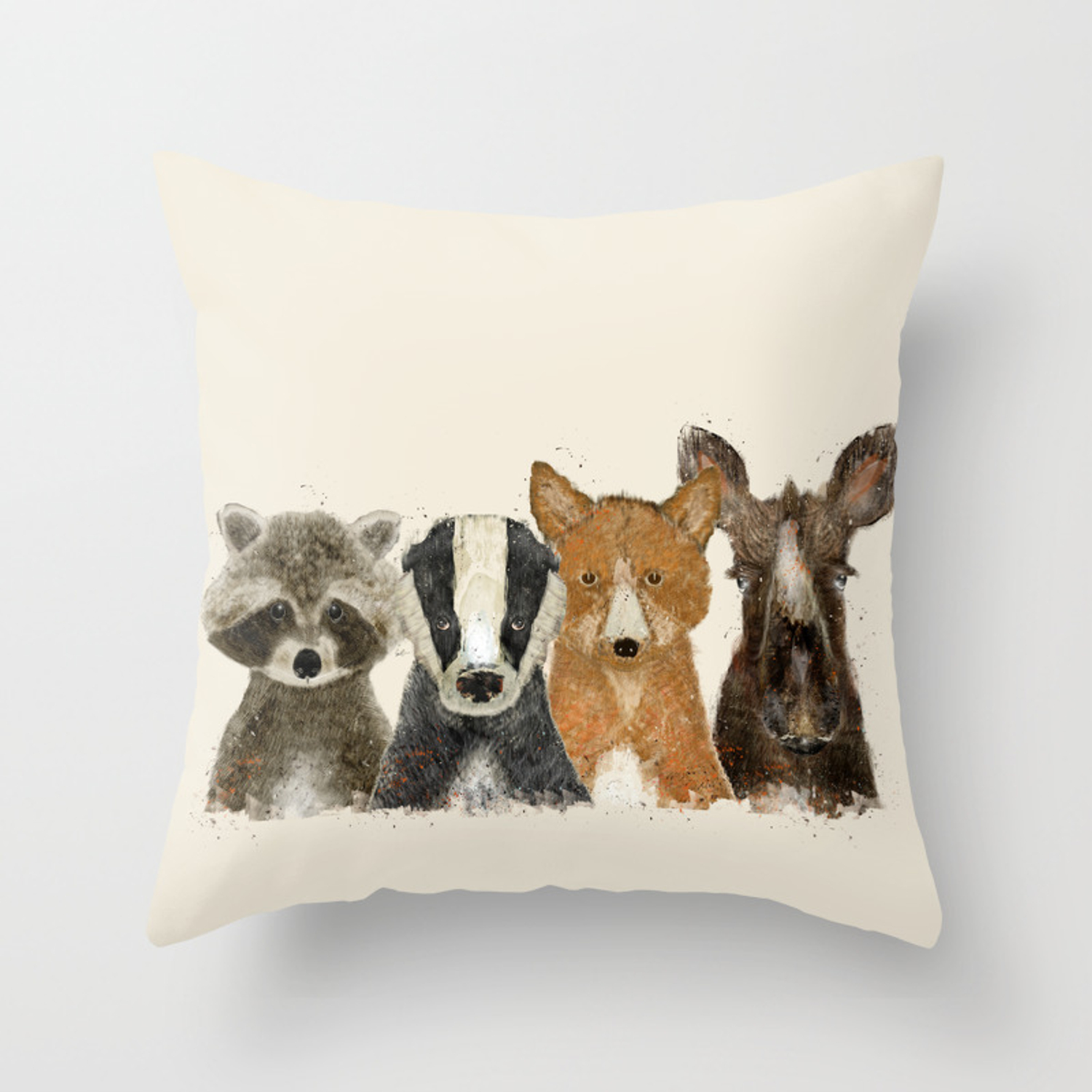 Forest Friends Throw Pillow By Bribuckley Society6