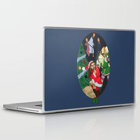 thorin Laptop & iPad Skins featuring Santa Thorin by Lauren Ashizawa