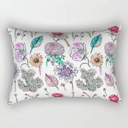 Floral In Bunches Rectangular Pillow