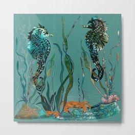 Sea Horse Haven.... Metal Print