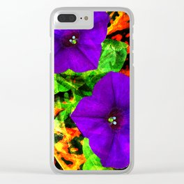 Violet Smiles Clear iPhone Case