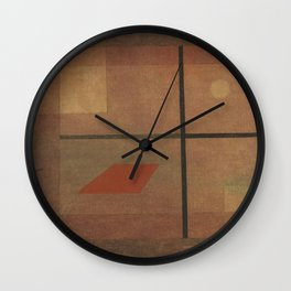 Paul Klee - But the Red Roof Wall Clock