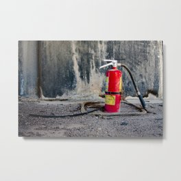 Extinguisher - Everything Red Series Metal Print
