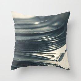 Vintage Vinyl Records 5 Throw Pillow