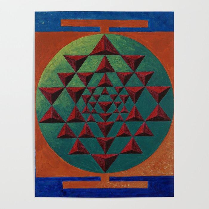 sri yantra 3d Poster by yairorchen1