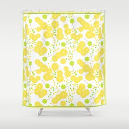 Candy sweets of lemon lollypops Shower Curtain