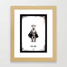 Cow boy Framed Art Print