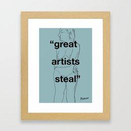 Great Artists Steal Framed Art Print