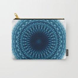 Mandala of Quantum Abundance (blue) Carry-All Pouch