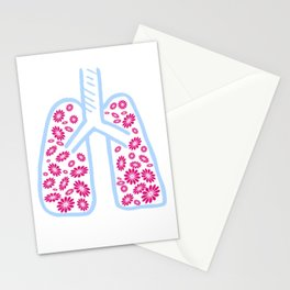 Lungs of flowers Stationery Cards