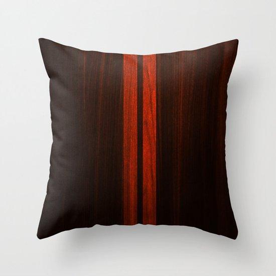 Wooden Striped Oak case Throw Pillow