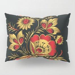 Golden russian folk Pillow Sham