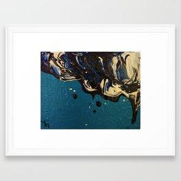 Oil and water - Oilspill Framed Art Print