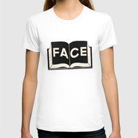facebook T-shirts featuring FaceBook by Roland Lefox