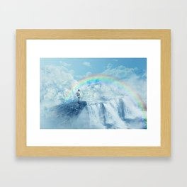 waterfall in the sky Framed Art Print