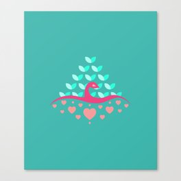 Be Beautiful - Be Colourful Peacock Canvas Print