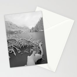 Wintry Lake Bohinj Stationery Cards