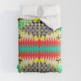 Tribal Beat Geo Neon Comforters