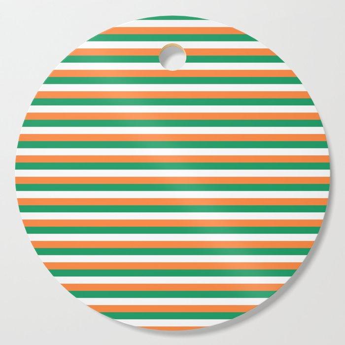 Irish Tricolour Horizontal Stripes Green Orange And White