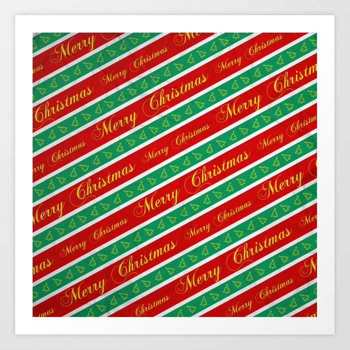 Christmas Wrapping Paper Art Print By Nicklasgustafsson Society6