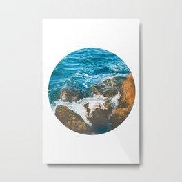 Rocky Ocean Shore No1 Metal Print
