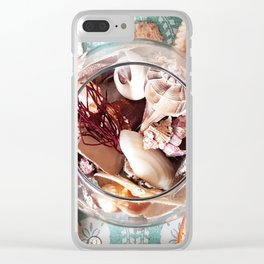 Seashell Centerpiece Clear iPhone Case