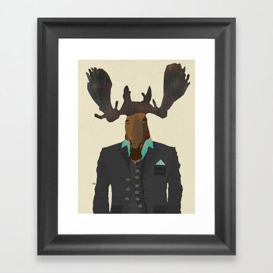 mr moose Framed Art Print