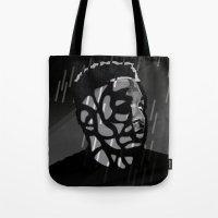 kendrick lamar Tote Bags featuring Kendrick Lamar by Mr Mamu