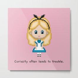 Alice In Wonderland (Pixel Art) Metal Print