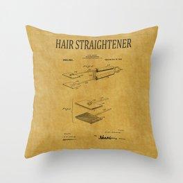 Hair Straightener Patent 1 Throw Pillow