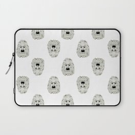 Angry Theater Mask Pattern Laptop Sleeve
