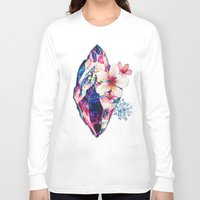crystal Long Sleeve T-shirts featuring crystal by Felicity Du