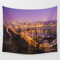 prague Wall Tapestries featuring Prague 1 by Veronika