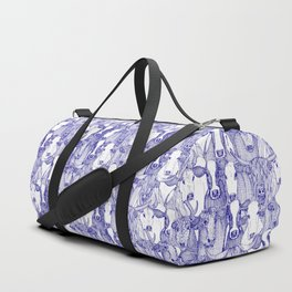 just cattle blue white Duffle Bag