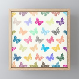 Colorful butterflies Framed Mini Art Print