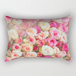 Roses:  I love you this much! Rectangular Pillow