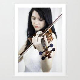 La violoniste Art Print