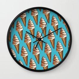 Ice Cream Pattern - Twist Wall Clock