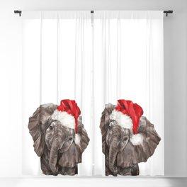 Christmas Baby Elephant Blackout Curtain