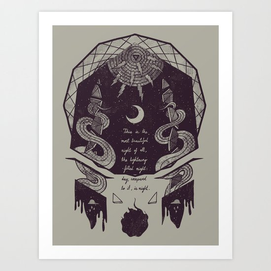 The Lightning-Filled Night Art Print