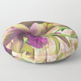 The orchids are blooming. Floor Pillow